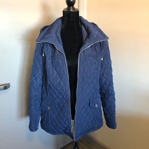 London Fog Quilted Navy Jacket